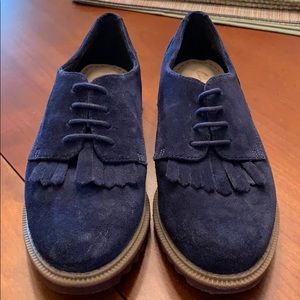 Clarks Shoes - Clark's Griffin Mabel Navy Suede
